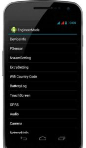 Калибровка дисплея Андроид-устройства через инженерное меню