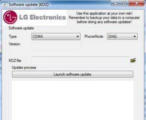 установка утилиты KDZ Updater