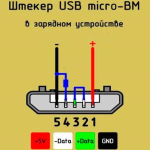 Распайка стандартного microUSB разъема на большинстве смартфонов